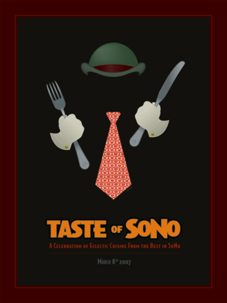 Taste of SoNo Hat Man Poster